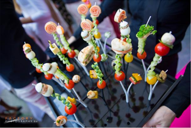 funcky brochettes op een spiesje voor tijdens huwelijksrecepties