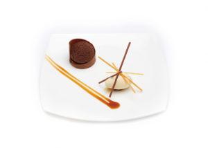 chocolade en vanille ijs huisgemaakt Bye Traiteur AROMATE - Gardens of aromates - salle de fêtes feestzaal le grand salon - le palais de plume - the classic domaine - mariage communion