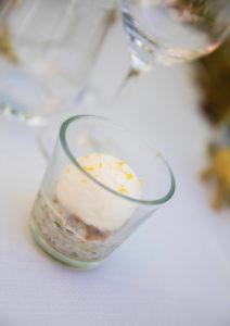 espuma van iode kbereid met verse oesters Bye Traiteur AROMATE - Gardens of aromates - salle de fêtes feestzaal le grand salon - le palais de plume - the classic domaine - mariage communion
