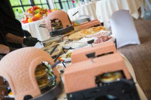 pizza kraampje voor avond feesten op een huwelijksfeest Bye Traiteur AROMATE - Gardens of aromates - salle de fêtes feestzaal le grand salon - le palais de plume - the classic domaine - mariage communion