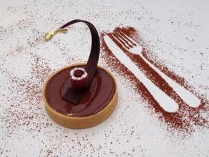 tartelette van chocolade Bye Traiteur AROMATE - Gardens of aromates - salle de fêtes feestzaal le grand salon - le palais de plume - the classic domaine - mariage communion