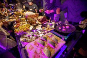 zeebaars buffet terre mer Bye Traiteur AROMATE - Gardens of aromates - salle de fêtes feestzaal le grand salon - le palais de plume - the classic domaine - mariage communion